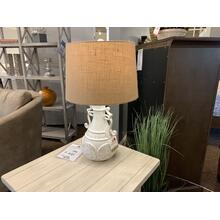 Decorative Cream Lamp with Linen Style Shade
