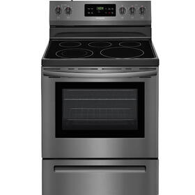 "Frigidaire Smooth Surface 30"" Freestanding 5-Element 5.4-cu ft Self-cleaning Electric Range (Black Stainless Steel)"