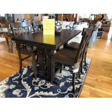 """See Details - BASSETT BENCH*MADE 60"""" COUNTER HEIGHT DINING TABLE & 4 COUNTER STOOLS"""