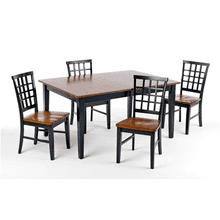 Arlington Lattice Back Chairs / 2 PAK - Black and Java