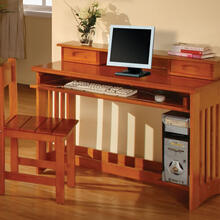 Honey Student Desk/Hutch
