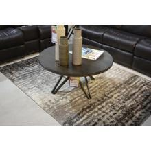 Product Image - Ashley Furniture wood top metal base 3 leg table.