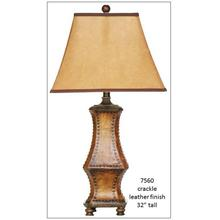 See Details - Crackle Leather Table Lamp