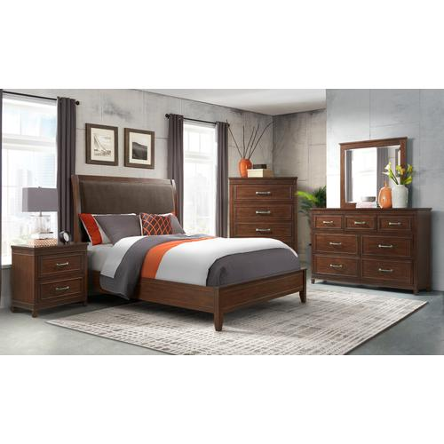 LaJolla - Coffee Walnut 6 Piece Bedroom Set