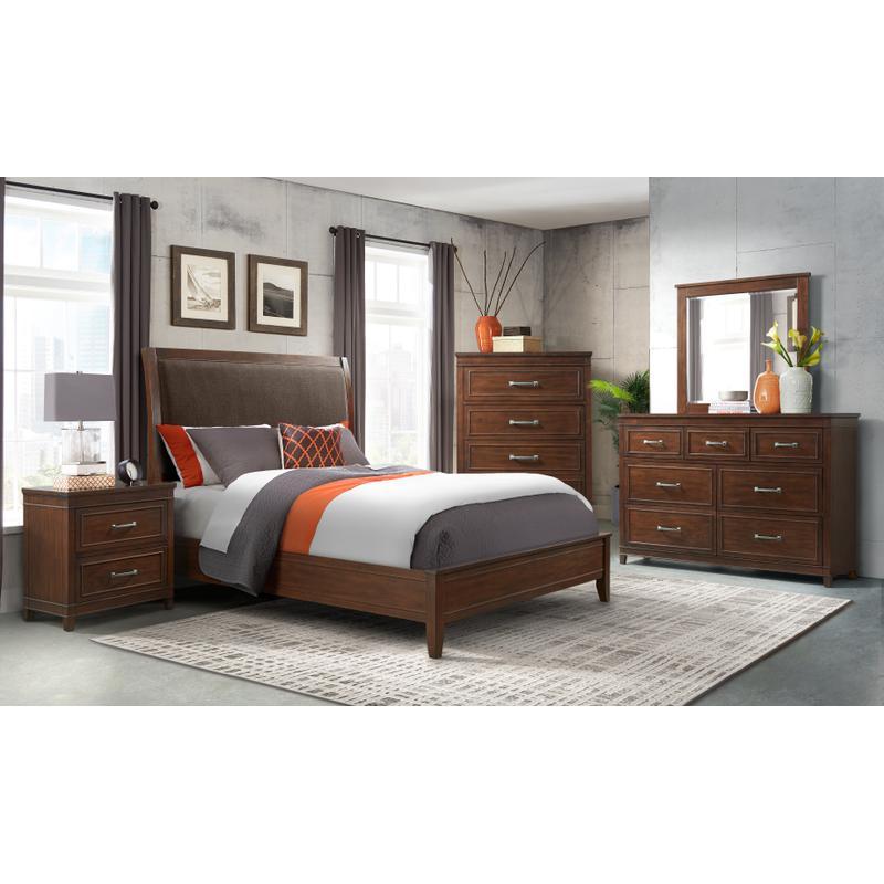View Product - LaJolla - Coffee Walnut 6 Piece King Bedroom