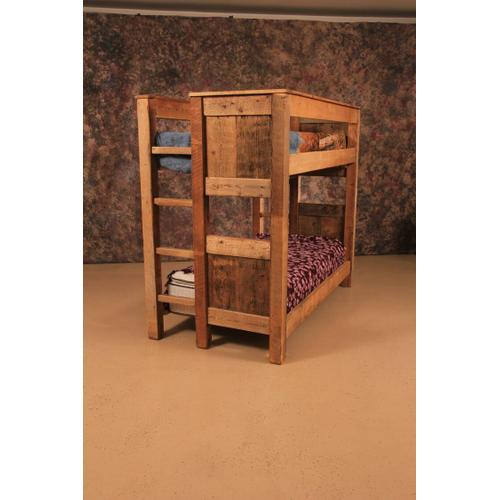 Cozy Creations Collection - Reclaimed Barnwood Twin/Twin Bunkbed