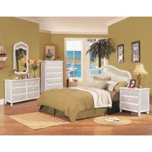 Sea Winds Trading Santa Cruz Headboard - White Finish