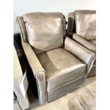 View Product - Alfresco Gunmetal Leather Swivel Glider