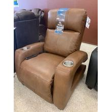 Southern Motion Zero Gravity Recliner with power headrest . Power Heat & Message . 35W x 42D x 42H in . Fresca Amber (903-17) Leather/Vinyl