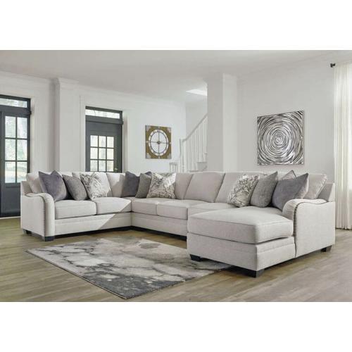 Ashley Furniture - ASHLEY 3210117-134-146-155-177 5-Piece Dellara Chalk Sectional Sofa - RAF Corner Chaise-Armless Loveseat-Armless Chair-LAF Loveseat-Wedge