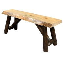 See Details - Rustic Natural Walnut Bench