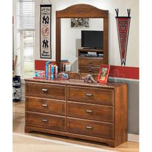 Barchan - Medium Brown Collection: Dresser & Mirror