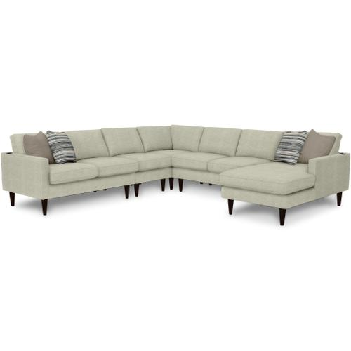 Product Image - TRAFTON 3-Piece Stationary Sectional in Silver Fabric