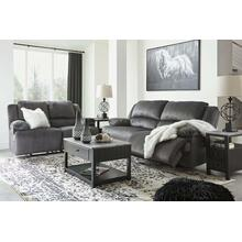 Ashley 365 Clonmel Charcoal Reclining Sofa and Love