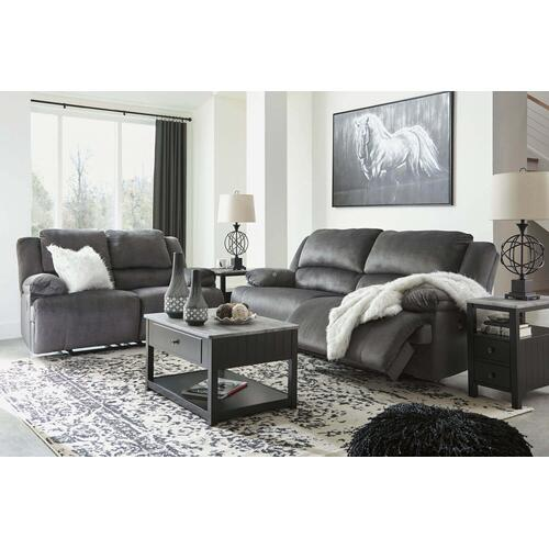 Ashley 365 Clonmel Charcoal Reclining Sofa and Love