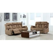 See Details - 9760 - Beige Microfiber - 2-Piece Sofa and Loveseat
