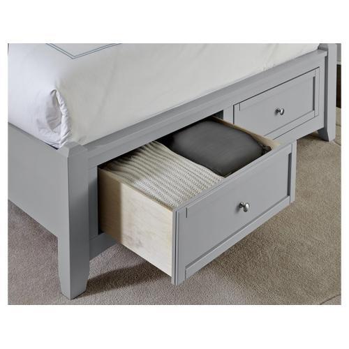 Vaughan-Bassett - Queen Grey Mansion Storage Bed