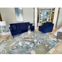 View Product - Navy Blue Velvet Dacey Sofa and Chair