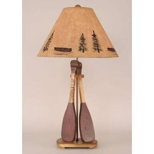 Coast Lamps - Wooden 2-Paddle Table Lamp