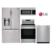 LG Kitchen w/ 28 cu. ft. French Door Smart Wi-Fi Enabled Refrigerator in Stainless Steel