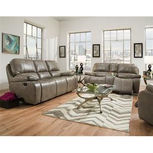 Corinthian Furniture - Jamestown Smoke Reclining Sofa & Loveseat