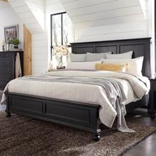Queen Panel Bed Complete Oxford Black
