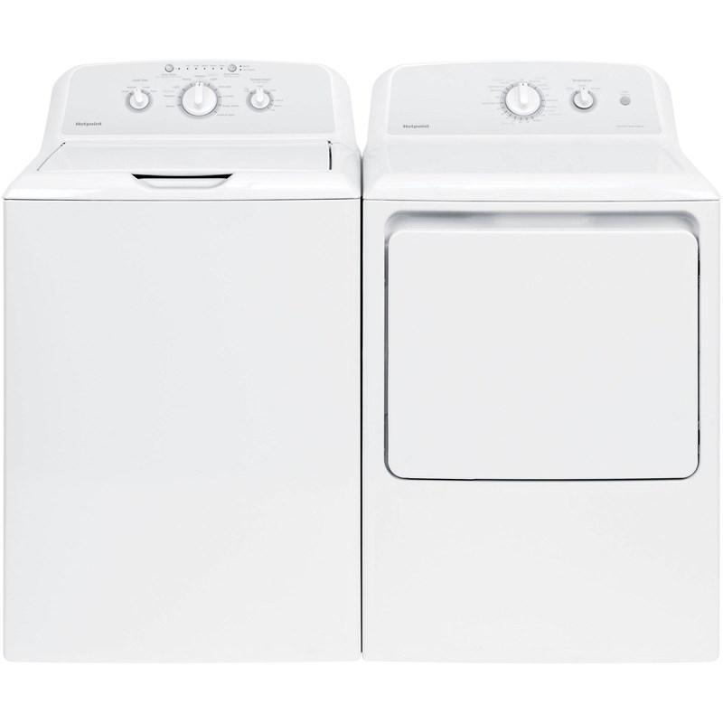 View Product - Hotpoint 3.8 cu. ft. Washer & 6.2 cu. ft. Electric Dryer