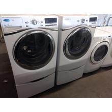 Refurbished Whirlpool Duet STEAM Front Load  Washer Dryer Set On Pedestals Please call store if you would like additional pictures. This set carries our 6 month warranty, MANUFACTURER WARRANTY AND REBATES ARE NOT VALID (Sold only as a set)