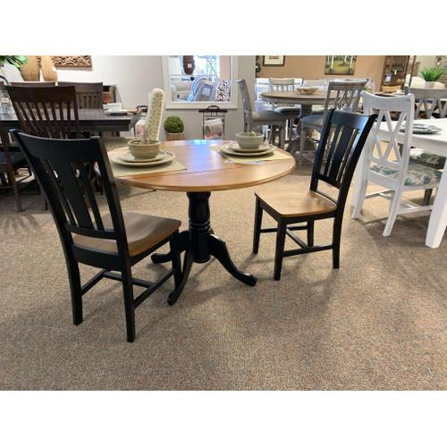 Round Pedestal Table w. 2 Matching Chairs