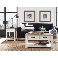 Rectangular Cocktail Toasted Almond Finish w/push through drawers    (5519-01,52942)
