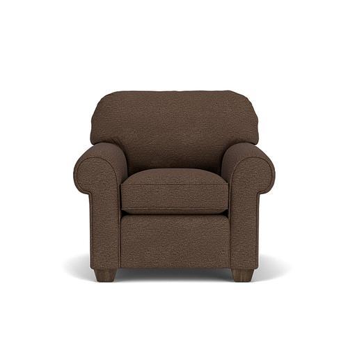 Flexsteel - Thornton Chair in Brown Java Fabric