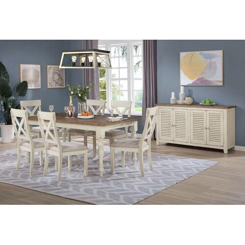 Cross-Back Dining Room Set