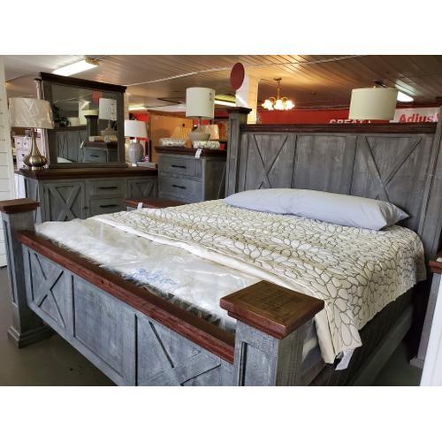 Montana Grey Queen or King Bed