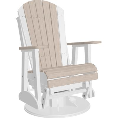 Adirondack Swivel Glider 2' Premium Birch and White