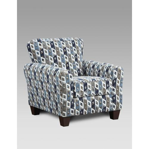 9001 Cube Blue Accent Chair