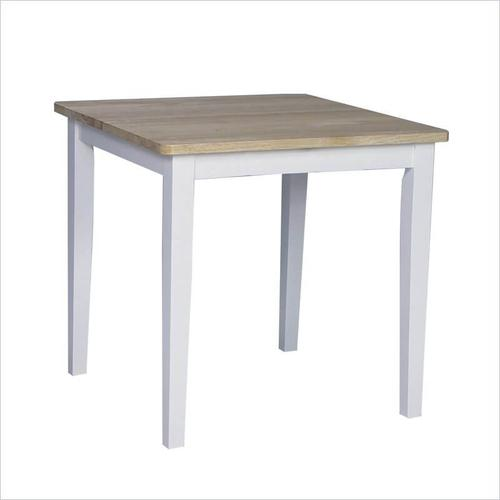 Solid Wood Dining Table White / Natural