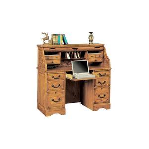 Heritage Light Oak Roll Top Desk