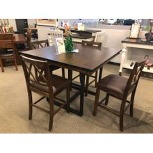 5 Pc Counterheight Acacia Dining Set