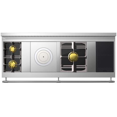 Chateau Grand Palais 180(NM) - 2-Gas Burners - 1-French Plaque - 1-Maxi Burner - 2-Induction Burners