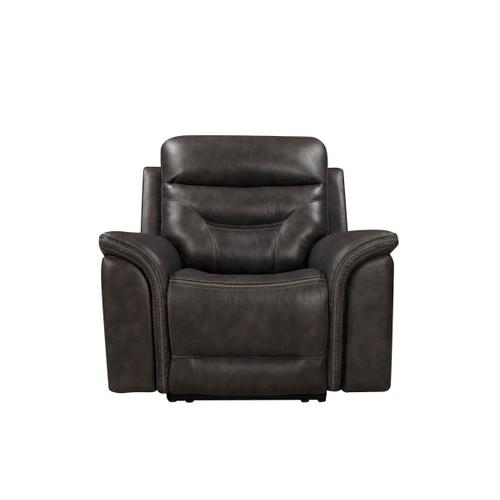 Bullard Power Reclining Recliner in Gray Leather