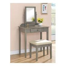 Iris Vanity Table & Stool (gray)