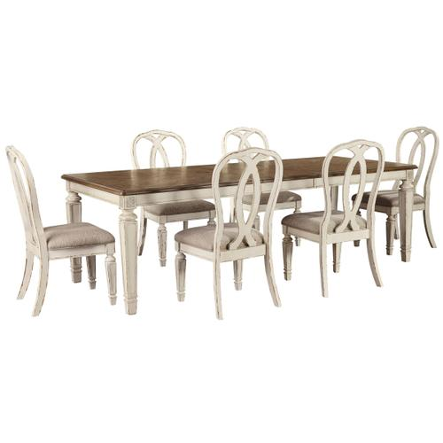 Realyn 7pc Dining Set Table and 6 Chairs