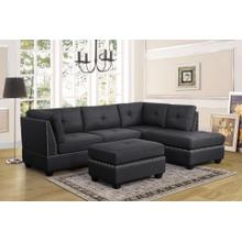 SIENNA SECTIONAL - RAF CHAISE - CHARCOAL (FREE OTTOMAN)