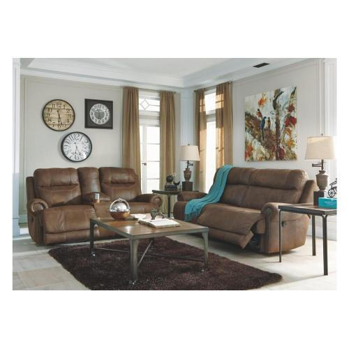 Ashley 384 Austere Power Reclining Sofa & Love