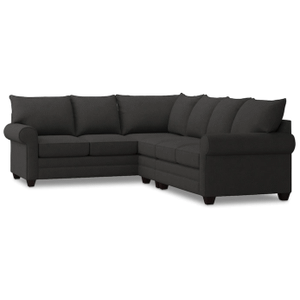 Alex Roll Arm Right Sectional - Charcoal
