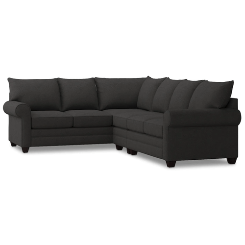 Bassett Furniture - Alex Roll Arm Right Sectional - Charcoal