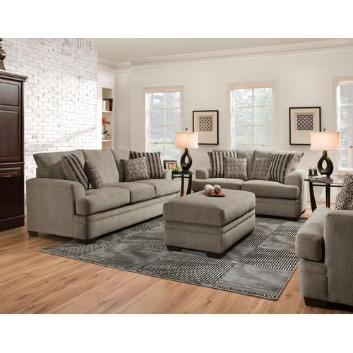 Cornell Pewter 3PC Set: Sofa, Loveseat & Ottoman (3650)