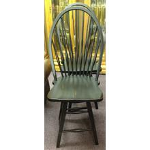 "24"" Black Swivel Barstool"