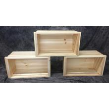 See Details - Maine Made Crate Large 22W X 12H X 16D Pine Unfinished