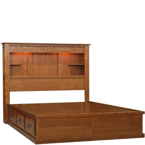 Summit Bookcase Headboard with 6 Drawer Foundation Unit